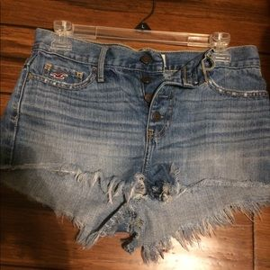 Hollister high waisted shorts size 1 . (Waist 25)